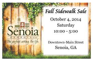 Fall Sidewalk Sale